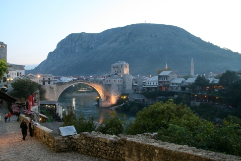 Ny new-old bridge in Mostar