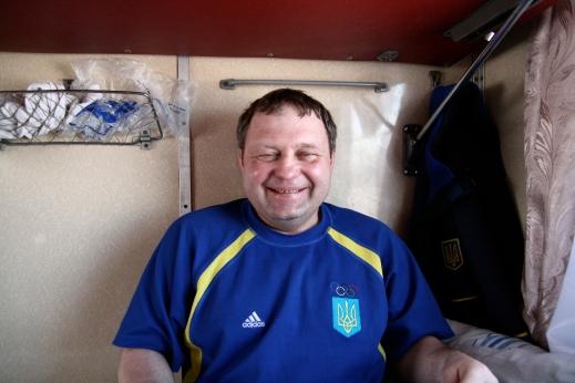 My Ukranian train buddy, Volodimir